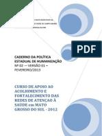 Caderno Da Politica Estadual de Humanizacao Ms 2013 No 02