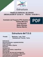 Estructura TEG 2012