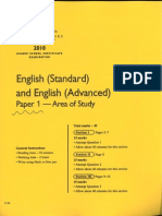 2010 area of study paper