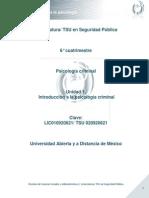 Unidad 1. Introduccion a La Psicologia Criminal