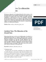 El Gusto Estético. La Educación Del (Buen Gusto), Petra Pérez)