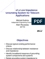 (159373063) Design of a Low Impedance Grounding System for Telecom Applications - Mitchell Guthrie and Alain Rousseau