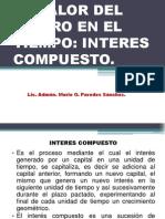 SESION N° 06 - EL VALOR DEL DINERO EN EL TIEMPO - INTERES COMPUESTO.