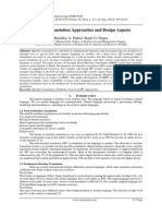 Machine Translation Approaches and Design Aspects