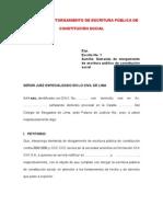 02 - Demanda de Otorgamiento de Escritura Pública de Constitución Social