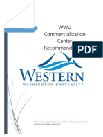 wwu commercialization recommendations
