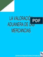VALORACIÓN ADUANERA