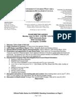 ECWANDC Board Meeting Agenda - June 16, 2014