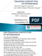 Sas Training Institutes in Hyderabad