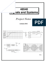 48540 Signals and Systems - Project Notes - Autumn 2012