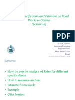 Analysis, Specification and Estimate on Road Works_rev1