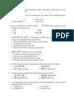 Soal Latihan Ujian Sekolah PAI
