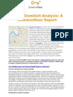 Kalyan-Dombivli Analysis
