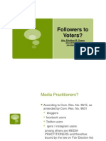 Followers to Voters