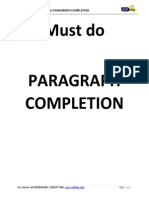 CAT Para Completion Verbal Must Do Questions