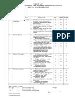 Checklist Kantin Sekolah