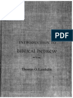 Introduction to Biblical Hebrew Thomas Lambdin