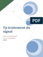 Tp Traitement de Signal Du Signal