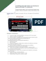 Bonne Volkswagen Golf Plus Autoradio Voiture Avec Système de Navigation GPS Radio TV Et Bluetooth