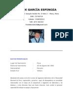 Curriculum Vitae Frank Garcia Espinoza