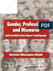 [Christine Etherington-Wright] Gender, Profession