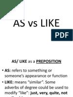 AS vs LIKE