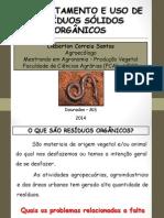 Aproveitamento de Resíduos Sólidos Orgânicos