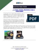 Jogo Mesa 5 em 1 Poker, Roleta, BlackJack, Craps e Poker Dados