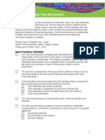 Club Leadership Plan Worksheet