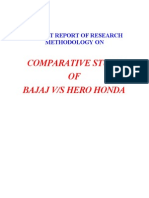 Bajaj vs Hero Honda Project Report