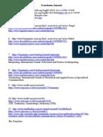 List of Translation Journals April 2014