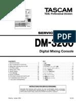 Tascam DM-3200 Service Manual