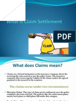 What is Claim Settlement