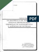 BALBINO FILHO. Nicolau. Matrícula de Jornais...