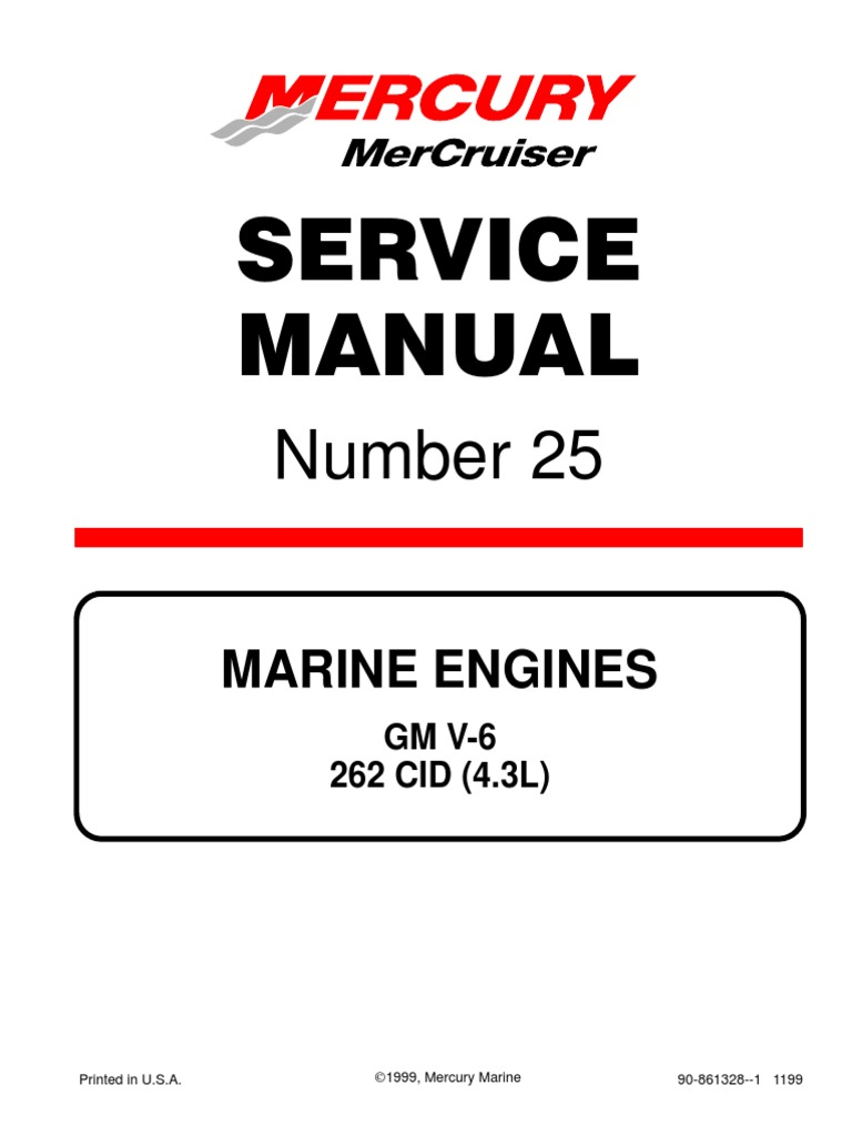 mercruiser service manual 25 carburetor throttle rh scribd com mercruiser 4.3 service manual 4.3 Mercruiser Engine Specifications