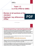 Overview of IFRS for SMEs Version2011 by IFRS organisation