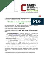 Carta Informação 2014 Verão PT-CAT-ESP