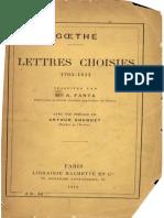 Goethe - Lettres Choisies