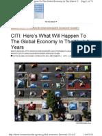 Citis Global Economic Forecasts 2