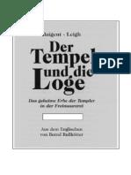 Baigent & Leigh - Der Tempel Und Die Loge