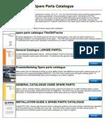 Toyota Spare Parts Catalogue