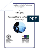 GCE O/L ICT Resource Material For teachers