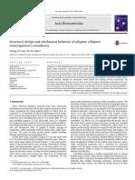 Structural Design and Mechanical Behavior of Alligator (Alligator Mississippiensis) Osteoderms