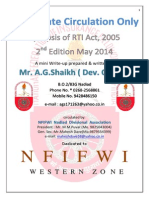 Synopsis of Rti Act 2005-2nd Edition New