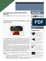 Cek Printer Blogspot Com 2013 09 Cara Mengatasi Printer Canon Ip2770