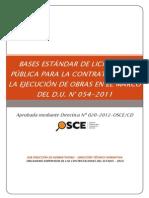 BASES ESTÁNDAR DE LP PARA LA CONTRATACIÓN DE LA EJECUCIÓN DE OBRAS EN EL MARCO DE D.U.N°054-2011