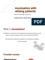 Communication With Somatizing Patients -2