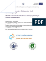 Książka Abstraktów - V Lubelskie Sympozjum Doktorantów Nauk Farmaceutycznych