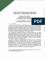 Les Sanctions Économiques Contre La Rhodésie (1965-1979)