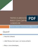 Testes in-browser Em Railscom Capybarae Webdriver